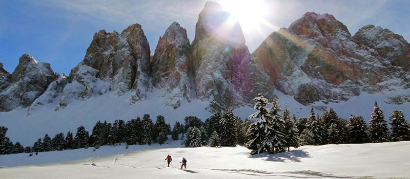 snowshoeing-funes-vallet-snowy-meadow