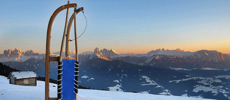 best sleigh slopes in the Dolomites